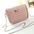 2016 Women bag pu leather handbags messenger bags fashion bow small flap shoulder bag ladies mini