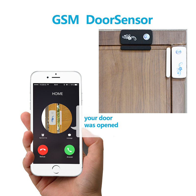 Wireless GSM & SMS Door Window Magnetic Sensor Gsm Alarm System Security Home Voice Detector,Remote Control Anti-Theft Burglar(China (Mainland))