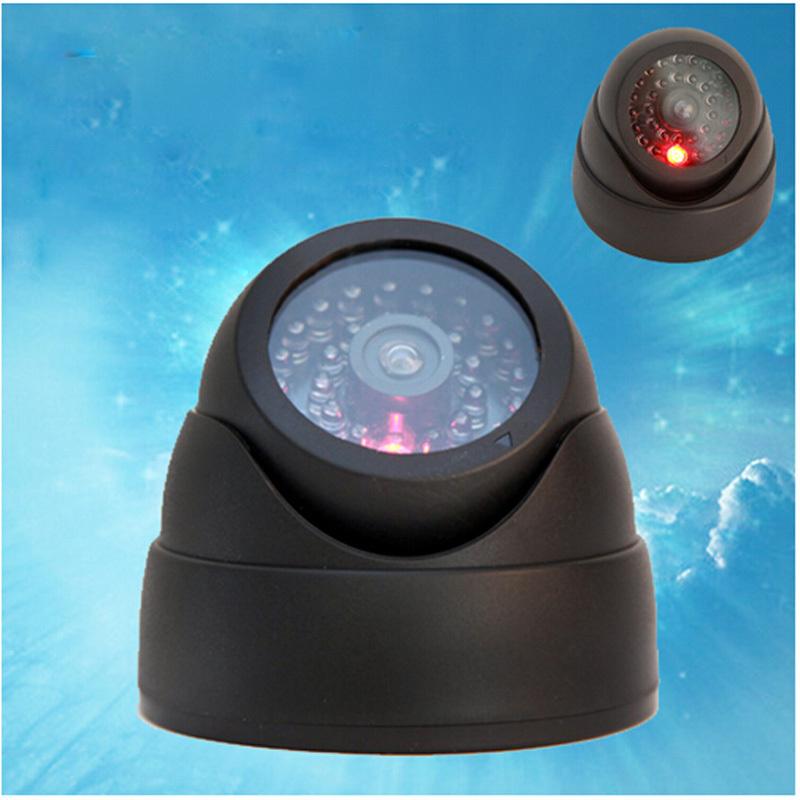 Гаджет  NEW Dummy Outdoor  Dome Security CCTV Surveillance Camera Led Blinking Light None Безопасность и защита