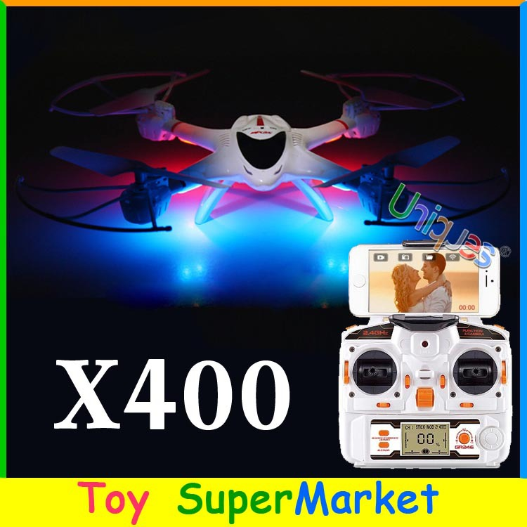 MJX X400 FPV iPhone Android Wifi Real Time RC Quadcopter with Camera C4005 CF Mode GPS Auto-Return UFO Drone 4CH & H107D H9D(China (Mainland))