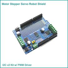 Motor/Stepper/Servo/Robot Shield for Arduino I2C v2 Kit w/ PWM Driver TOP