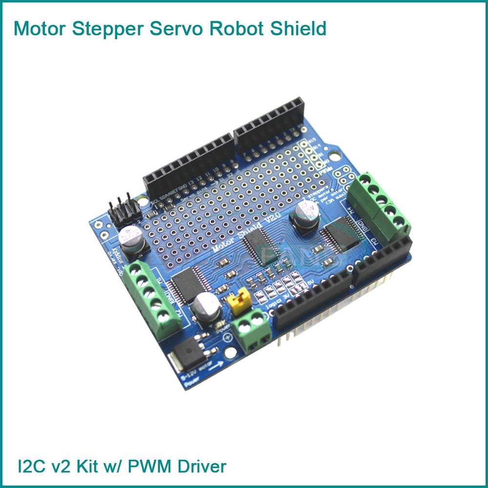 New I2c Tb6612 Stepper Motor Pca9685 Servo Driver Board V2 Motor Sheld For Arduino Robot Pwm In