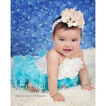 Newborn Infant Baby Gift Girls Pettiskirt Tutu Skirt 0-6M - Turquoise Blue(Hong Kong)