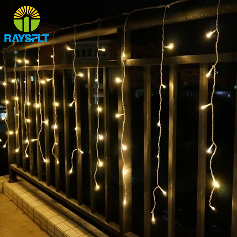 Holiday Lighting 4*0.6M LED Curtain Light Fairy Christmas Lights Icicle Xmas Wedding Party Decorations Outdoor String Light Lamp(China (Mainland))
