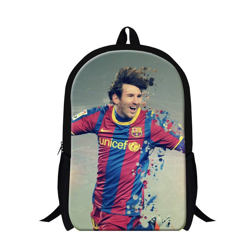 2016 necessary christian gifts for Messi fans high quality famous football star backpack school mochila for boys designer brand(China (Mainland))