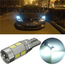 Car Super Bright Width Light LED T10 5360 W5W 10SMD Error Free Canbus Side Lamp(China (Mainland))
