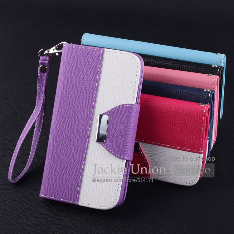 PU Leather Back Hard Style Magnet Flip Case For Samsung Galaxy S3 I9300 Bag Stand Wallet With Card Slot Phone Cover+Lanyard Case(China (Mainland))