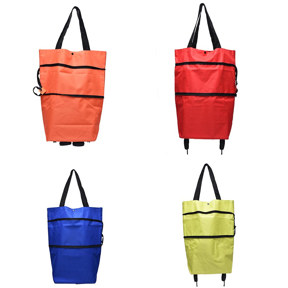 2017 canvas shopping bag reusable shopping bag oxford NEW shopping trolley bag on wheels bags on wheels