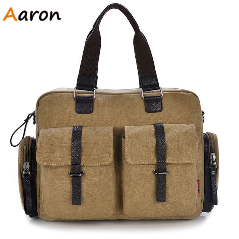 Aaron - Brand Fashion High-Density Unisex Canvas Handbag Computer Bags,Large Capacity Outdoors Trip Shoulder Bag Messenger Bags