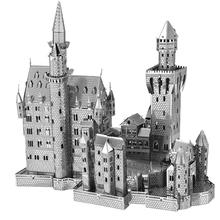 3D головоломки для взрослых 2015 нью-лебедь каменный замок нано металла DIY 3D головоломка строительных brinquedos пункт как crian развивающие игрушки