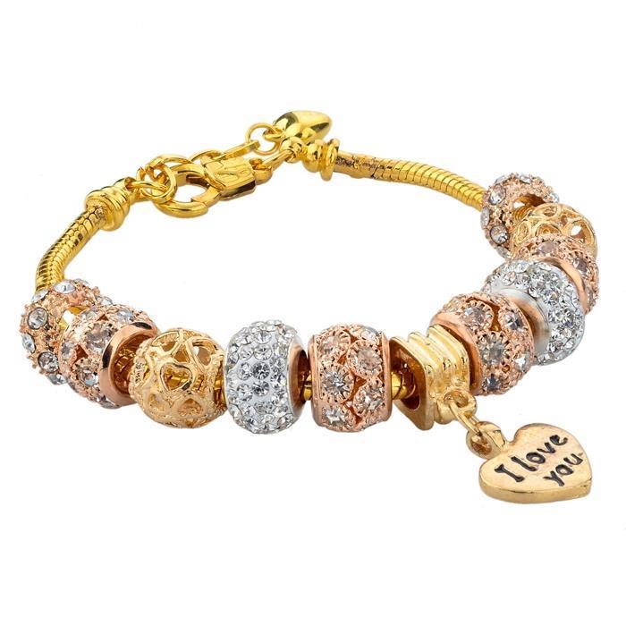 2015 Hot Sales Authentic Gold love bracelet Charm Fit Pandora Bracelet 925 Original Luxury Jewelry For Women SBR150074(China (Mainland))
