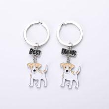 Floresta Voadora Bonito Do cão Da Chihuahua Chave anel De moda De Luxo Da marca De Alta Qualidade Chaveiro Carro Chaveiro Melhor Presente Amigo Animal Da Jóia Dos homens(China)