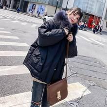 Fitaylor новые женские зимние пальто Белые парки на утином пуху большой воротник из натурального меха куртки с капюшоном на молнии средний разм...(China)