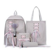 2019 школьная сумка для девочек-подростков, однотонный рюкзак, школьный рюкзак для колледжа, женская школьная сумка, черный кружевной рюкзак ...(China)