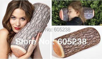 4 pieces Green Log Pillow Wood Grain and Wood Throw Pillows
