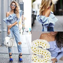 Buy New Fashion Women Ladies Clothing Tops Loose Long Sleeve Tops Blouse Shirt Casual Ruffles Blouse Clothes Women for $6.84 in AliExpress store