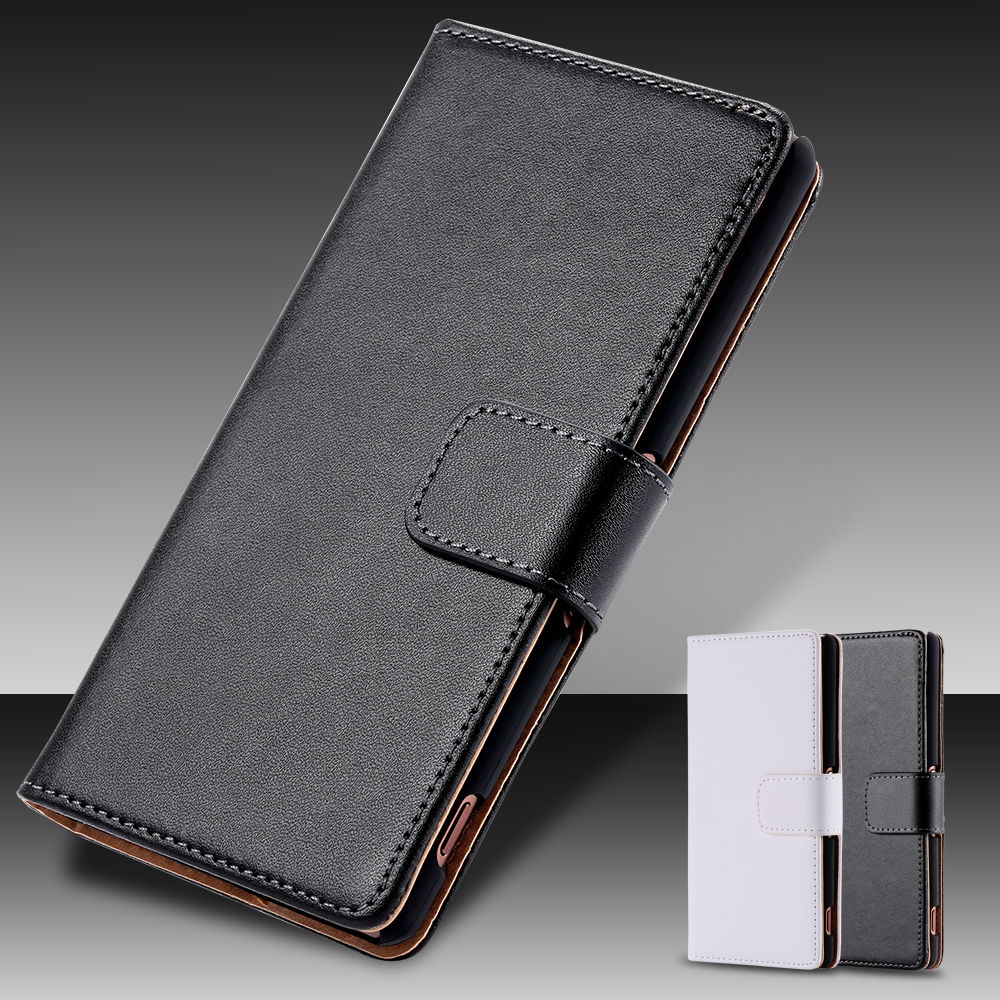 Z3& Z4 Real Genuine Leather Card Slot Flip Cell Phone Case Cover For Sony Xperia Z3 D6603 D6643 D6653 D6616 D6633 Z4 E6533 E6553(China (Mainland))