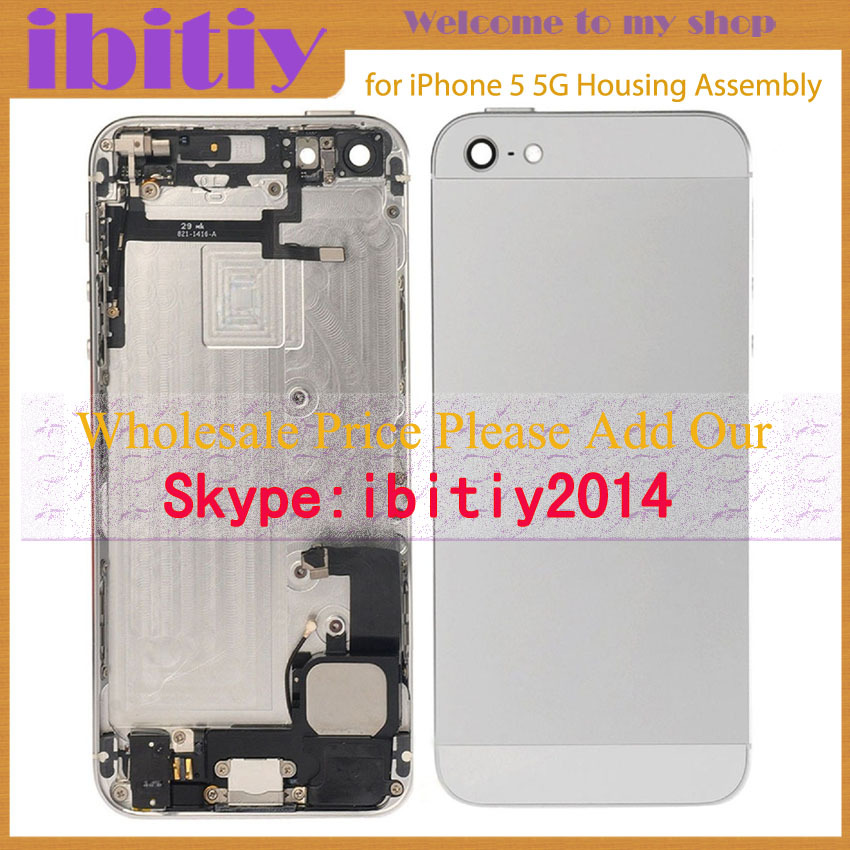 Brand New For iphone 5 5G Complete Full Middle Frame Chassis Housing Assembly with Flex Cable Cover Free shipping(China (Mainland))