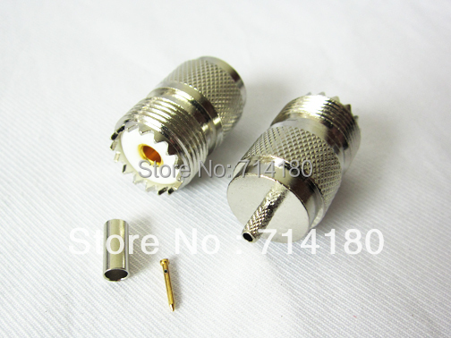 10xUHF SO239 female jack crimp for RG316 RG174 cable connector wholesale new hot<br><br>Aliexpress