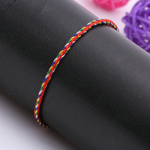 XL-6 Chinese Popular Bohemia Women Cotton Color Rope Toggle-clasps bracelets & bangles Free Shipping(China (Mainland))