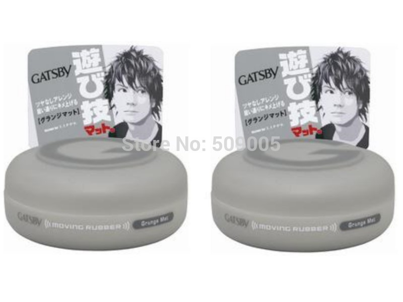2pcs Lot Japan Gatsby Wax Hair Styling Moving Rubber Series Casual Matte 80g Free Shipping Personal Care(China (Mainland))