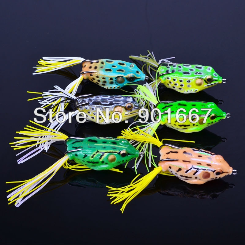 2013 High Quality Fishing Bait 60pc/lot soft bait 6 colors fishing lures 5.5CM/12.5G Frog Lure Soft lures fee shipping(Hong Kong)