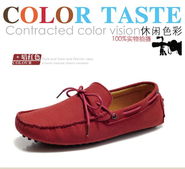 Spring new Men's Suede Leather tassel slip-on flat driving moccasin Loafer shoes US6.5-10,light color