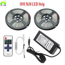 Buy 5M 10M 5630 5730 IP65 LED Taris Fita Light RF Dimmer Adapter DC12V 60led/m Flexible strip lighting brighter 3528 5050 for $19.39 in AliExpress store