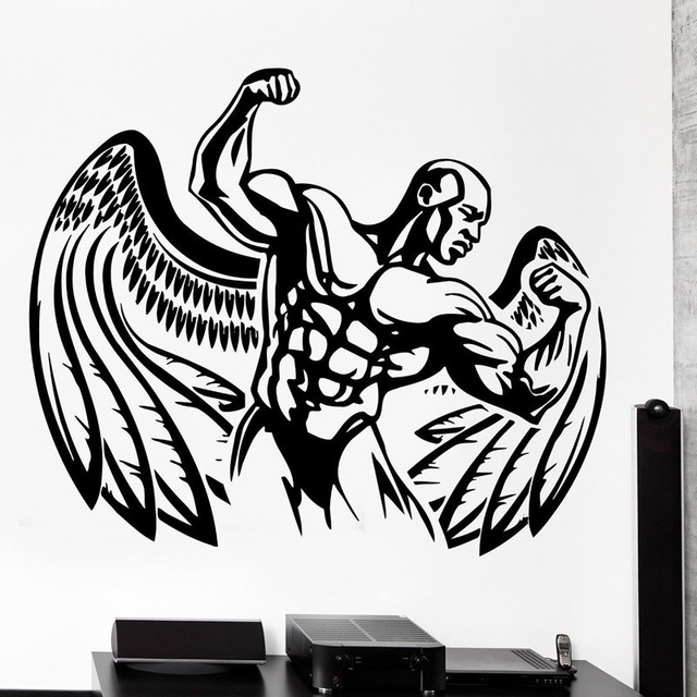 New arrival free shipping Fitness Sticker Body-building Decal GYM Posters Vinyl Wall Decals home Decor Mural Fitness Sticker(China (Mainland))
