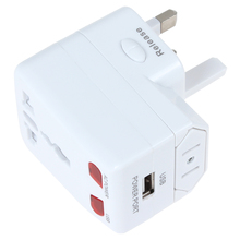 US UK EU Power Plug Travel Voltage Converter Adapter with USB