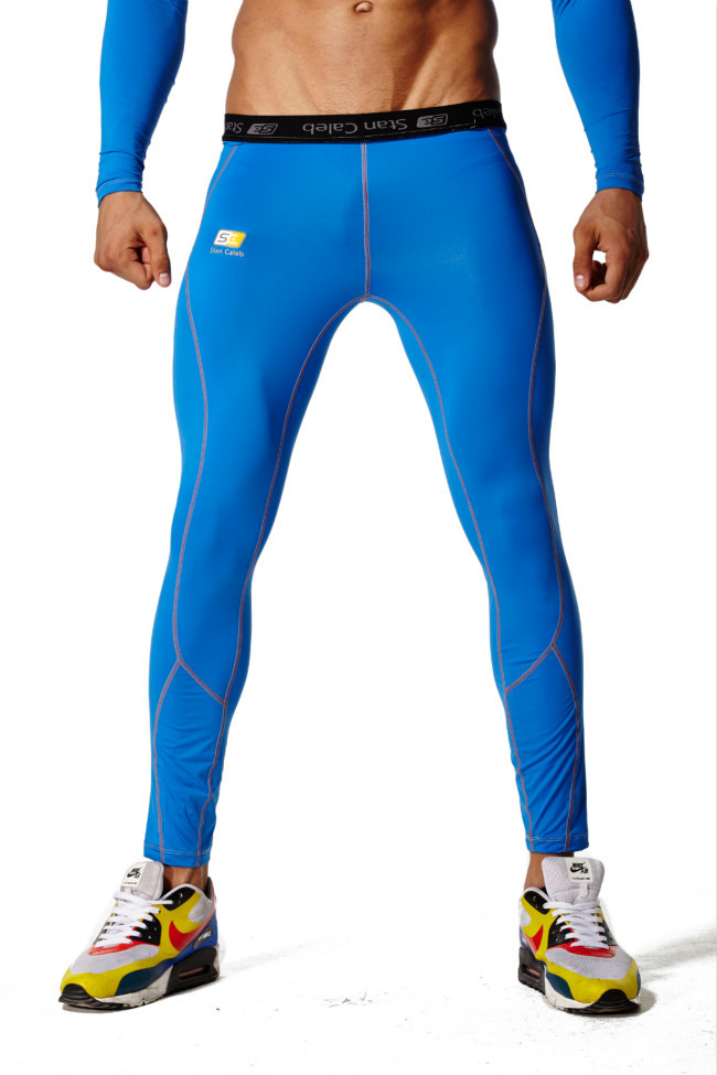 Mens Blue Leggings