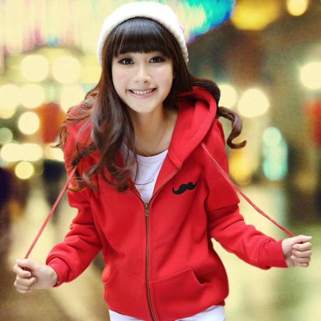 2016 осенью новый harajuku женщины спортивный костюм большого размера толщиной куртка ...