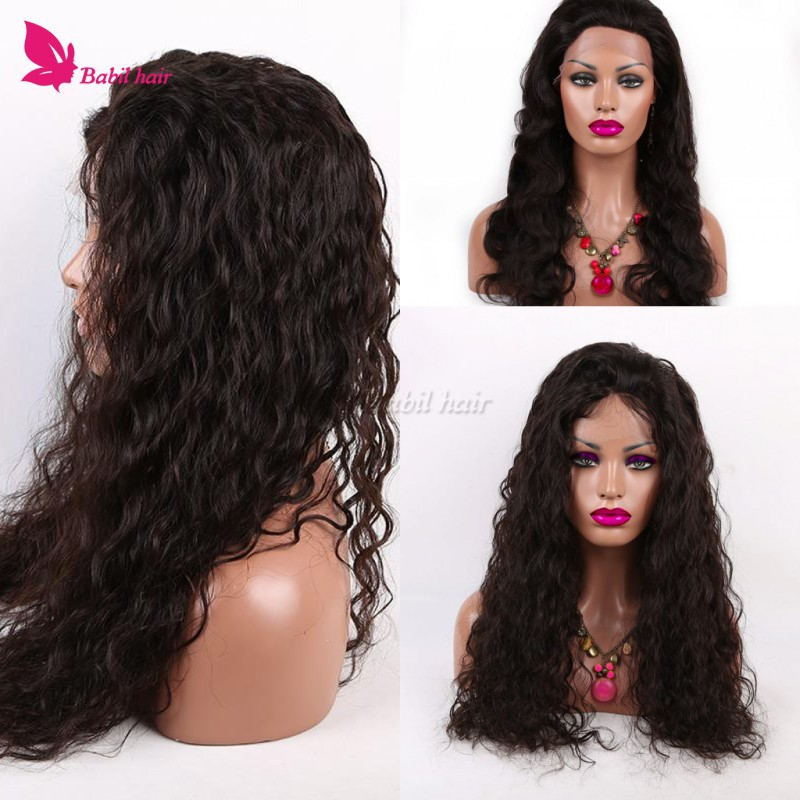 7A Full Lace Human Hair Wigs For Black Women Natural Hairline Glueless Full Lace Human Hair Wigs Lace Front Wig With Baby Hair <br><br>Aliexpress