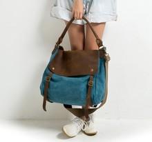2016 women leather canvas handbags ladies vintage designer cross bodys bags for women shoulder bags female handbags tote bags(China (Mainland))