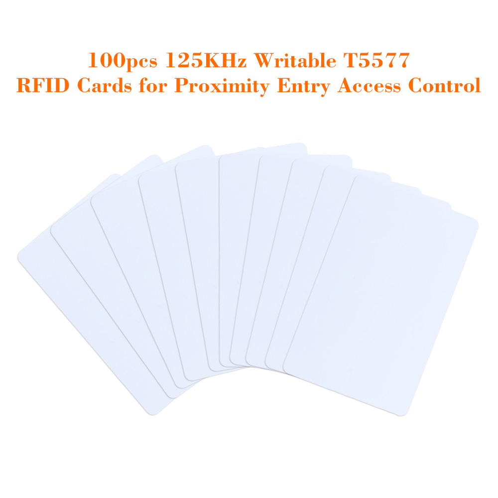100pcs/lot Writable RFID Tags Smart Cards 125KHz Proximity Door Control Entry Access EM Card Touch Memory T5577 Wholesales(China (Mainland))