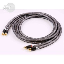 Free Shipping JIB Germany Hi-Fi HiFi Hi-End Sapphire OCC Audio Signal Cord Cable RCA 24K Gold HF-001A(China (Mainland))