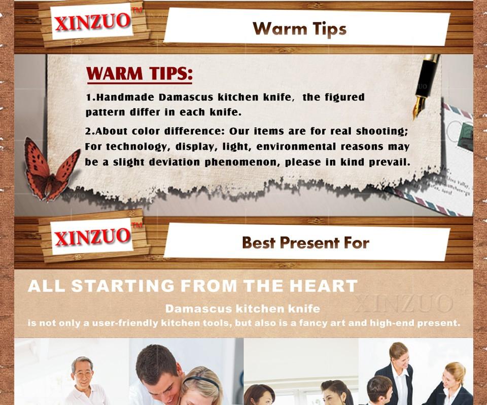 "Buy 2016 NEWEST XINZUO 8"" inch cleaver knife Japanese 67 layers Damascus Steel kitchen knife senior Sashimi knife free shipping cheap"