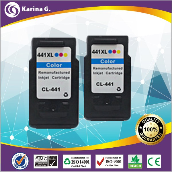 Twin Pack Color Generic Inkjet Cartridge CL 441XL for Canon PIXMA MX434 MX514 MX434(China (Mainland))