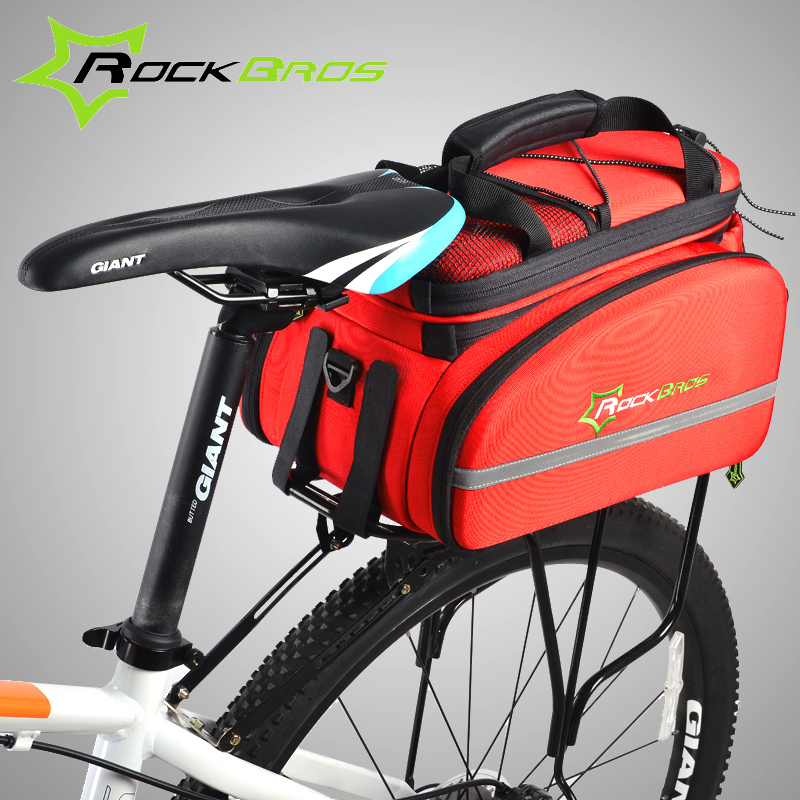 ROCKBROS Cycling Rear Saddle Pack Bag Bicicleta Multi-fonction Bags Bike Bicycle Rear Carrier Bags Rear Pack Trunk Pannier<br><br>Aliexpress