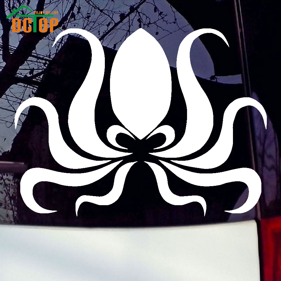 Simple car sticker design - Creative Design Of Octopus Car Stickers Vinyl Adhesive Removable Window Stickers Animal Car Styling Waterproof Decals
