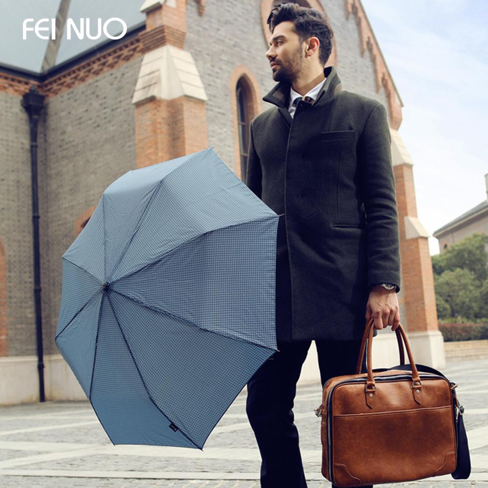 New Cool Stylish Men Umbrella For Sale!Creative British Plaid Style Manual 3 Folding Men's Business Umbrella+Free Shipping(China (Mainland))