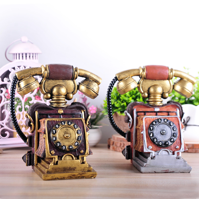 Do the old European style of the ancient antique telephone cafe bar ornaments shop window display props decoration model(China (Mainland))