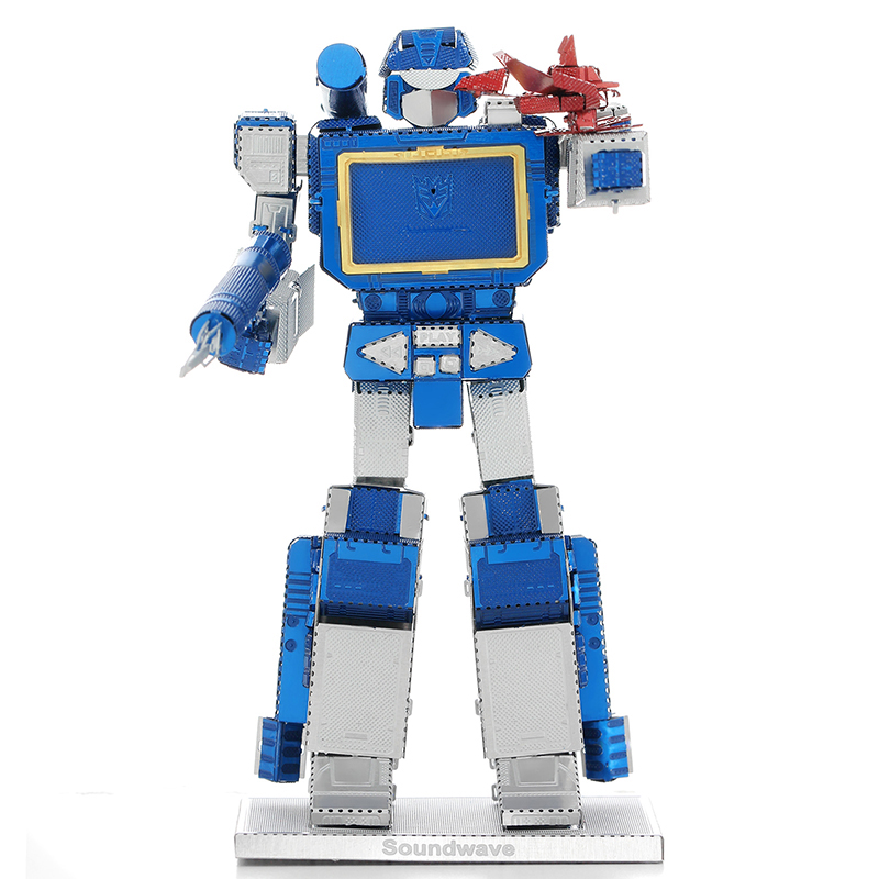 3D Metal Puzzles Color Autobots Sound waves Toys 3D Metal Model NANO Puzzles New Styles Chinses Metal Earth DIY Creative Gifts(China (Mainland))