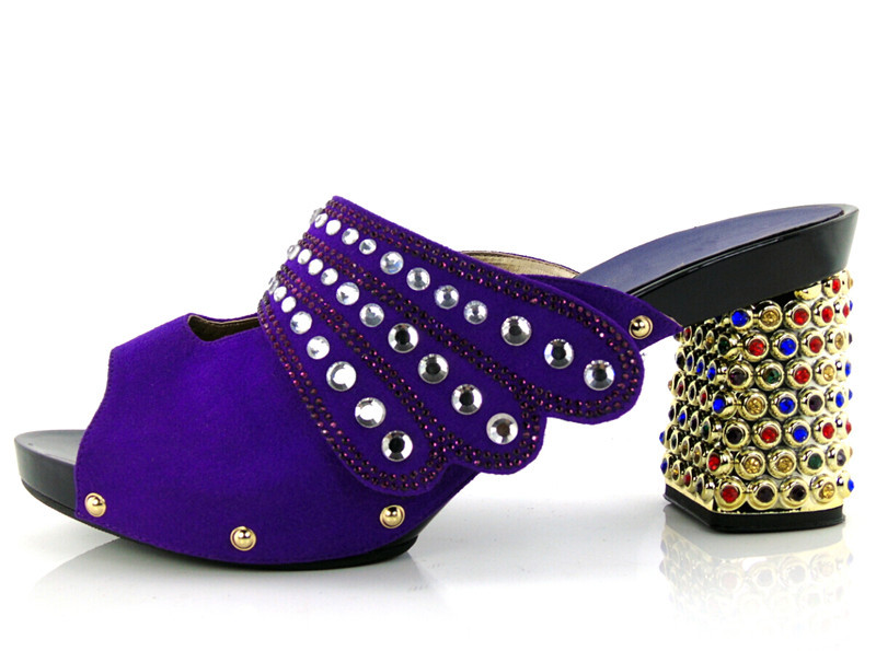 KL1609 Yellow High quality African Shoes New Fashion Italian Lady slipper High Heels 5 colours in stock for Free shipping.