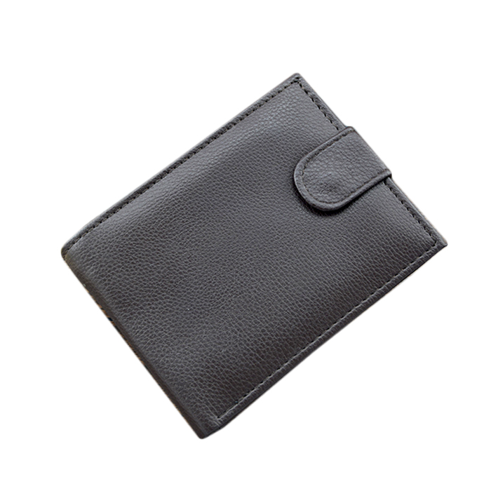 Hot Sale 2016 Men Genuine Leather Wallet. Hasp Coin Bag Men Leather Purse Dollar Price3 Fold Male Card Holder Wallet(China (Mainland))