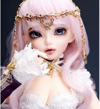 Happy Amethyst doll 1/4 bjd doll sd doll MiniFee Chloe Doll (free eyes + free make up)(China (Mainland))