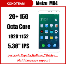 "Original Meizu MX4 FDD LTE Mobile Cell Phone MTK6595 Octa core 32G ROM 5.36"" IPS 20.7MP OTG GPS WCDMA Android 4.4 pro buy(China (Mainland))"