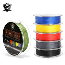 Cheapest !!! Fighter 2016 New Multifilament PE Braided Fishing Line Carp Fishing Rope Wire 100m Super Strong 4 Stands 8/10/60LB(China (Mainland))