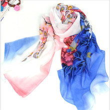 160*50cm Free shipping new 2015 long Korean fashion flower print chiffon scarf women winter scarves shawls desigual wraps