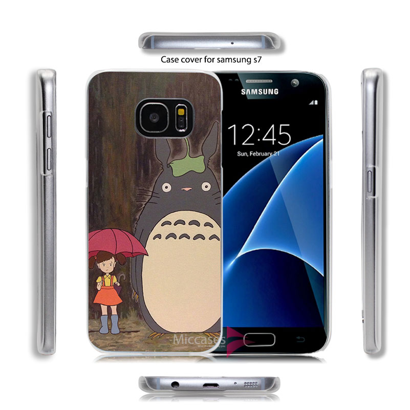 Totoro A1200 Hard Transparent Clear Case Cover for Samsung Galaxy S7 S6 Edge Plus(China (Mainland))